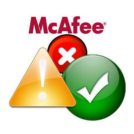 ������ ��� ��������� McAfee SiteAdvisor