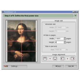 Печать изображений PosteRazor