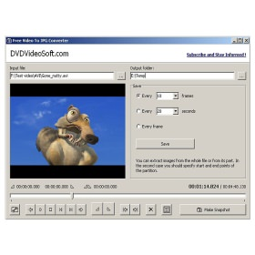 Скриншоты видео - Free Video to JPG Converter