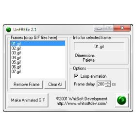 Создание анимированных GIF файлов UnFREEz