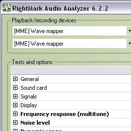 Тестирование звуковой аппаратуры RightMark Audio Analyzer