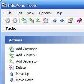 Изменение контекстного меню системы FileMenu Tools
