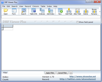 Просмотрщик файлов баз данных dbf-формата DBF Viewer plus