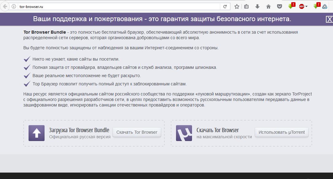 tor browser блокируют gidra