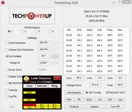 Повышение производительности процессора ThrottleStop