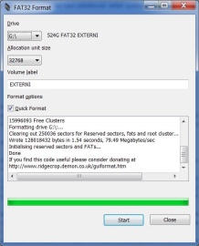 Утилита для форматирования FAT32format