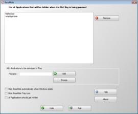 Сворачивание программ в трей Minimize to Tray Tool