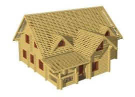 3D моделирование деревянных домов - К3-Коттедж