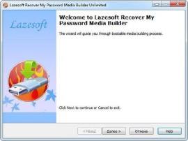 Сброс пароля учетной записи Windows - Lazesoft Recover My Password Home
