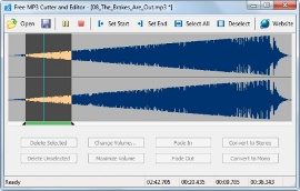 Аудиоредактор Free MP3 Cutter and Editor
