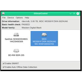Анализ жесткого диска GSmartControl