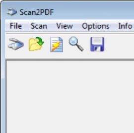 Сканирование документов Scan2PDF
