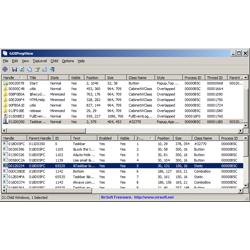 Отображение информации об открытых окнах GUIPropView
