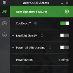 Настройка ноутбука Acer Quick Access