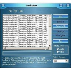 Объединение аудио и видео файлов MediaJoin